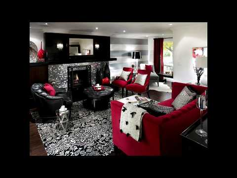 living-room-decor-black-and-red