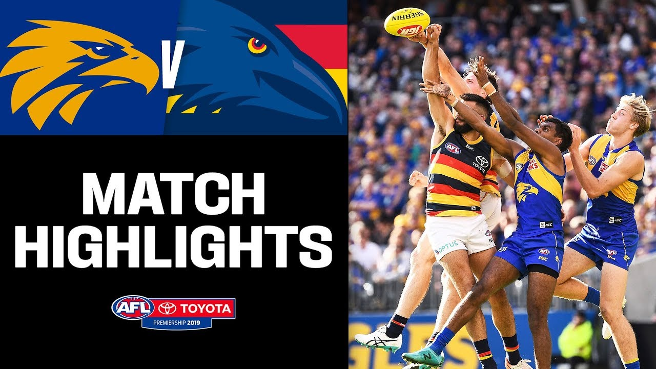 West Coast v Adelaide Match Highlights | Round 21, 2019 | AFL