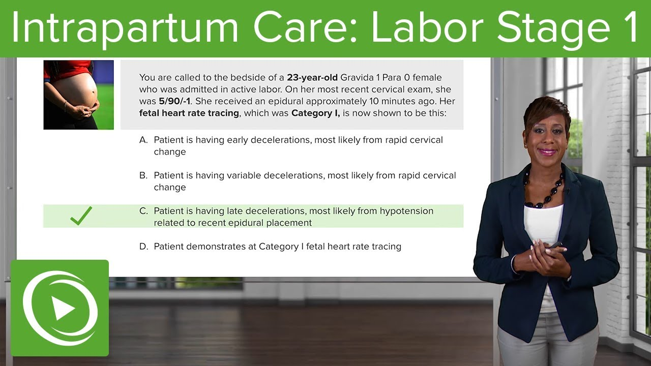 Intrapartum Care: Labor Stage 1 – Obstetrics | Lecturio