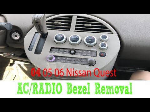 How To Remove 04-06 Nissan Quest Climate Control & Radio Bezel 05