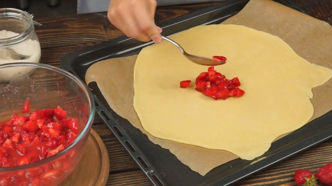 Клубничная галета - рецепт в домашних условиях