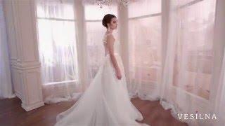 Прозрачное свадебное платье А силуэт  от VESILNA™ модель 3080