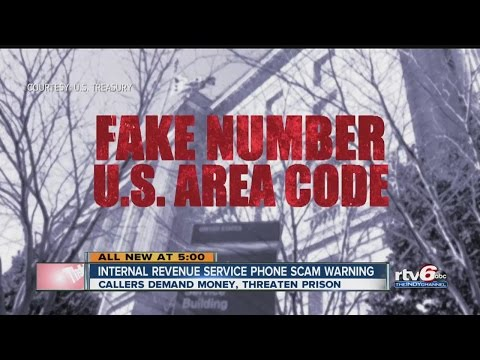 Internal Revenue Service phone scam warning