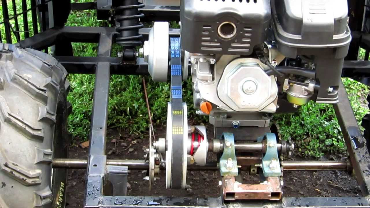 Batmobile Go Kart Jackshaft And Torque Converter Youtube Centrifugal Clutch Diagram