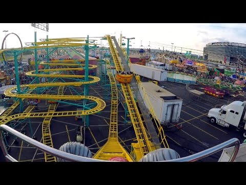 Wild Mouse on-ride HD POV @60fps New Jersey State Fair