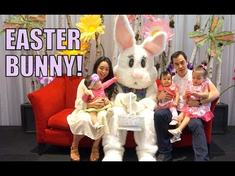 Babies First Time Meeting The Easter Bunny! - April 05, 2015 -  ItsJudysLife Vlogs thumbnail