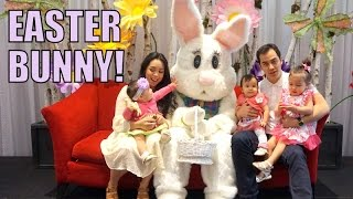 Babies First Time Meeting The Easter Bunny! - April 05, 2015 -  ItsJudysLife Vlogs