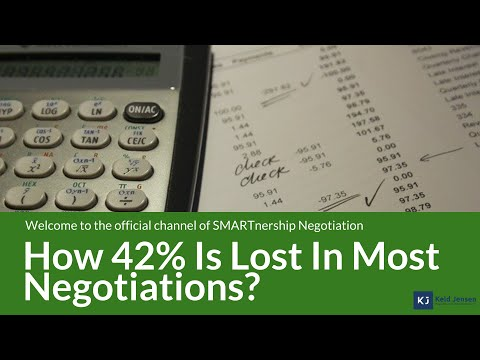 42% of the values in a negotiation is often lost