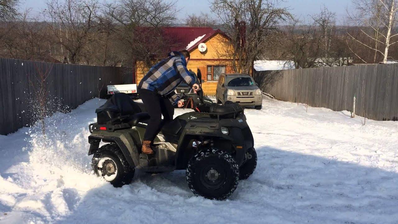 Квадроциклы поларис картинки зимой