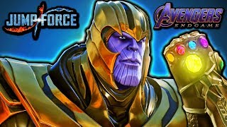 NEW THANOS IN JUMP FORCE! Avengers Endgame Thanos Vs Goku Gameplay MOD