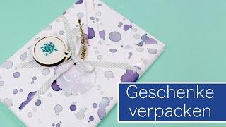 Geschenke richtig schön einpacken | VERLOSUNG #WirMachenWeihnachten