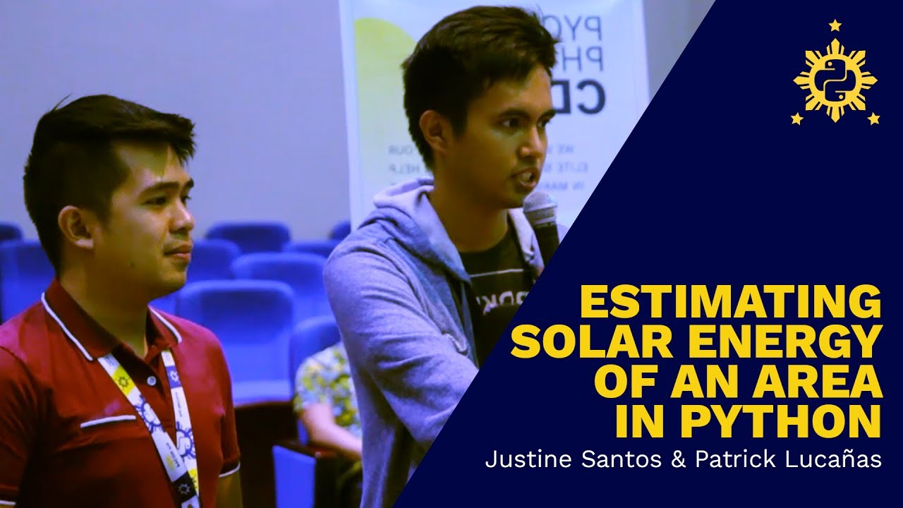 Image from PyCon PH 2017 - Estimating Solar Energy of an Area in Python by Justine Santos and Patrick Lucañas