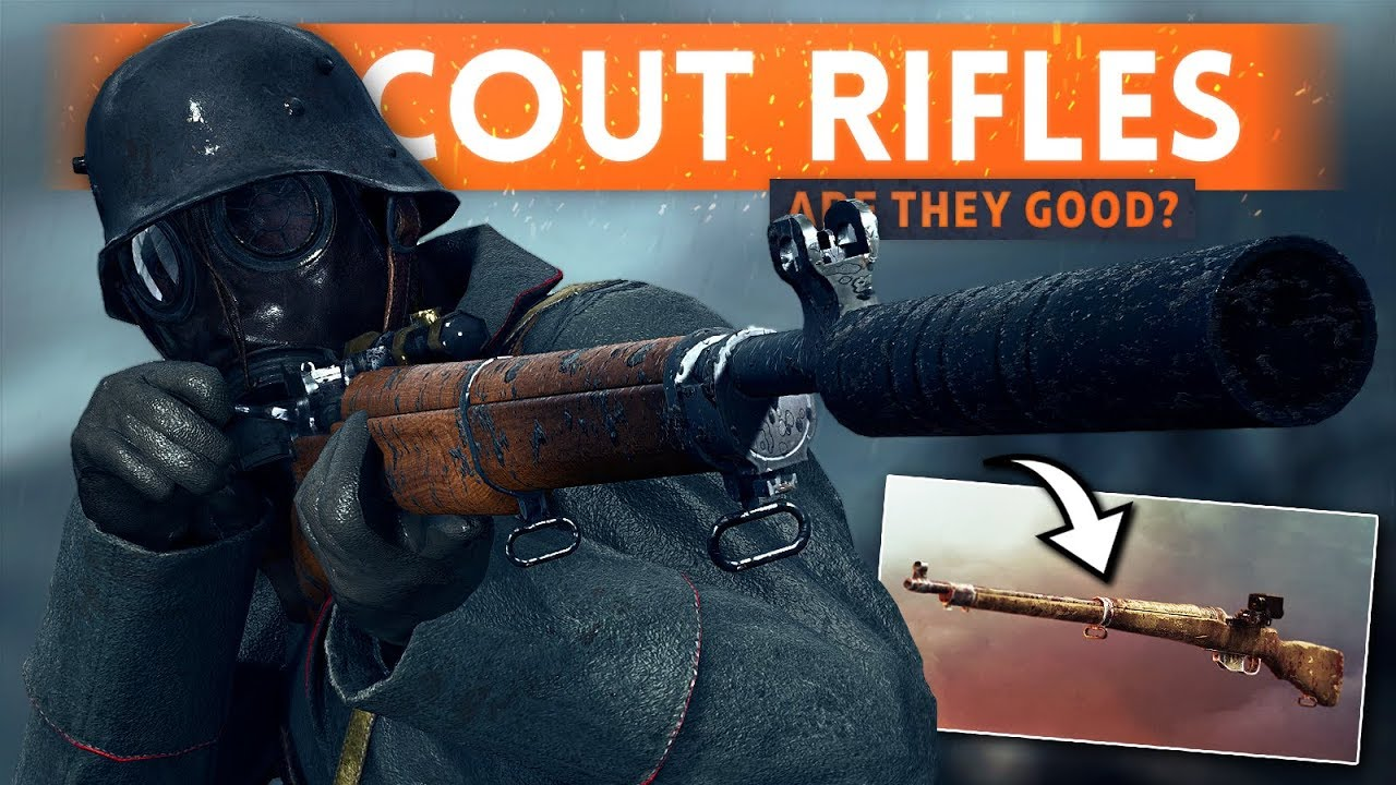4 NEW SCOUT WEAPONS: Are They Good? - Battlefield 1 Weapon Crate DLC Update (New *FREE* Weapons)