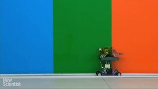 Chameleon robot changes colour to blend in(Full story: bit.ly/1mge9YN A rapid colour-changing display has let researchers mimic a chameleon, and could one day be used for adaptive camouflage., 2016-02-04T16:23:52.000Z)