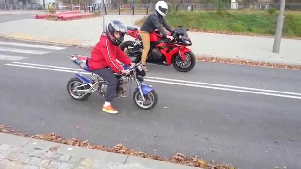 Goede Midi Bike 50 ccm vs Honda CBR 1000 rr race ;) - YouTube VD-14