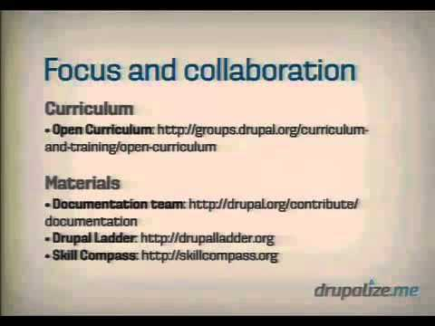 DrupalCon Munich 2012 The State of Drupal Community Education