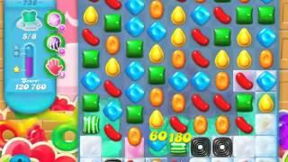 Candy Crush Soda Saga Level 738 - NO BOOSTERS