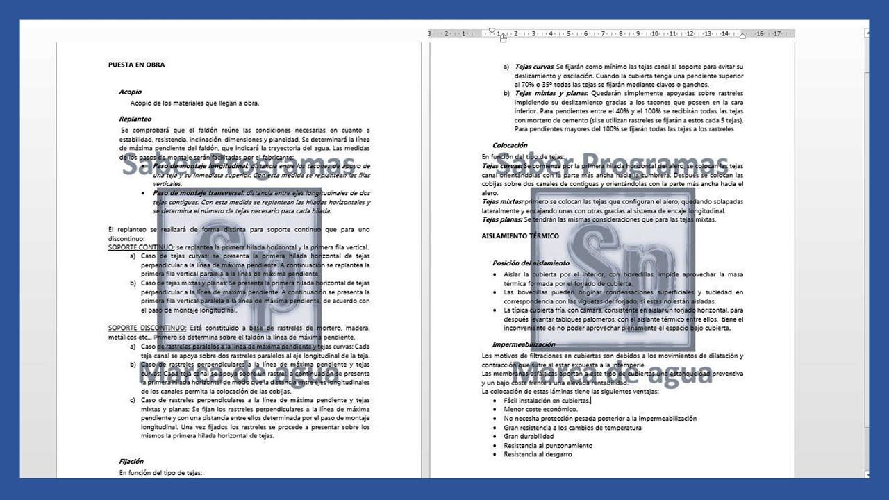 Word - Marca de agua de texto o imagen en Word. Tutorial en español ...