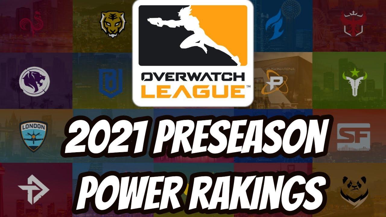 ATP'S Overwatch League 2021 Preseason Power Rankings