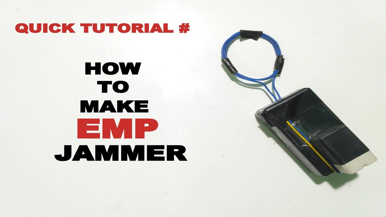 how to make emp jammer explained youtube