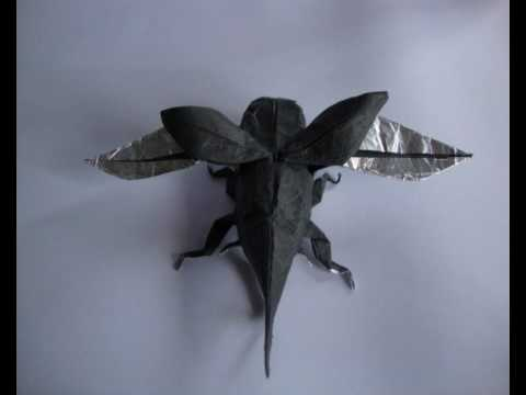 Origami Flying Hercules Beetle