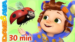 🐞Five Little Ladybugs and More Nursery Rhymes | Baby Songs by Dave and Ava 🐞