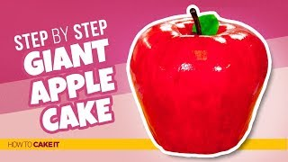 How To Make a GIANT Apple CAKE! 🍎 | Step By Step | How To Cake It