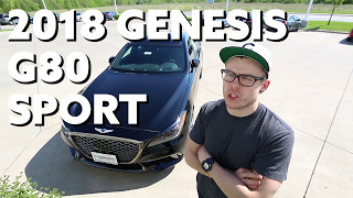 2018 Genesis G80 Sport Hands on First Look смотреть