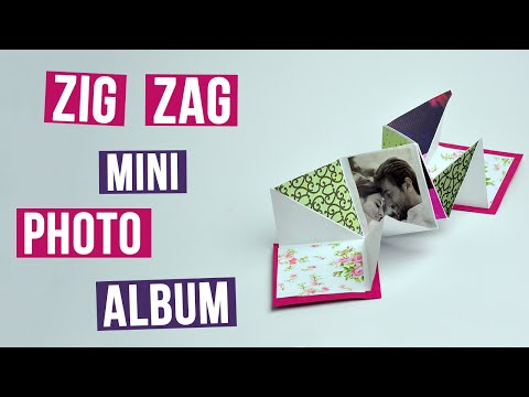 DIY Handmade Zig Zag Mini Photo Album