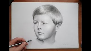 King Michael of Romania (age 5) Time-lapse portrait drawing