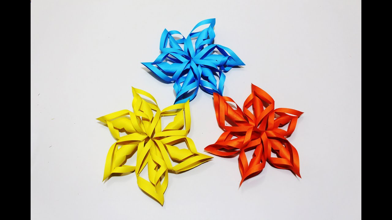 how to make a 3d snowflake  paper origami flower