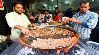 Muslim Street Food in INDIA - TUNDAY KEBAB + MUGHLAI Food in Lucknow!! CRAZY Indian Street Food
