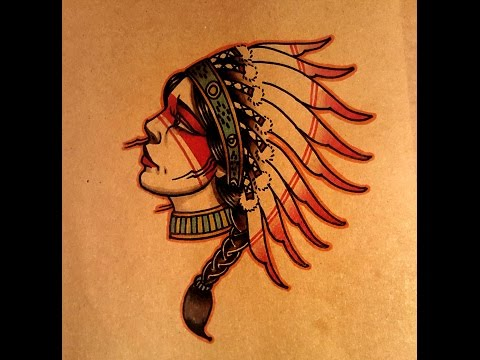 How To Draw A Old School Native American Woman Side View By Thebrokenpuppet
