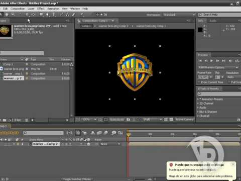Creacion de logo 3d en after effects youtube for Programa para crear habitaciones 3d