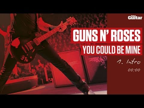 Guitar Lesson: Guns N' Roses 'You Could Be Mine' -- Part One -- Intro (TG216)