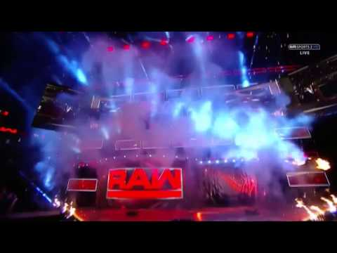 WWE Monday Night RAW Official Theme Video With Pyro - Enemies By Shinedown