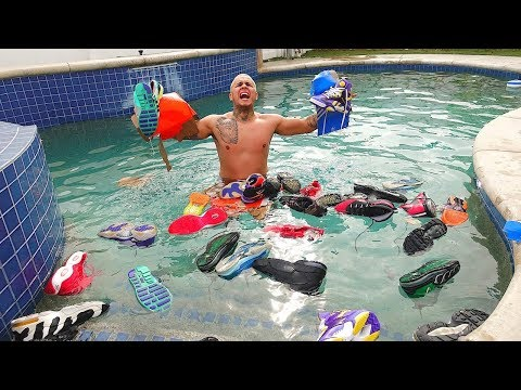 Throwing My Brothers $10,000 Shoe Collection In The POOL PRANK!!!!!!!