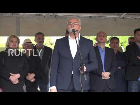 Montenegro: Protesters set fire to NATO flag, decrying govt's decision to join alliance