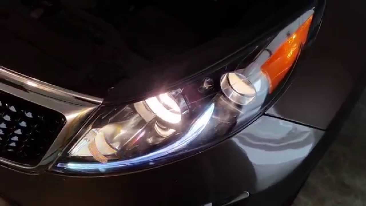 2017 Kia Sportage Suv Testing Headlights After Changing Bulbs Low Beam High Turn Signal You