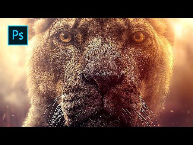 Glowing Lioness - Photoshop Manipulation Tutorial