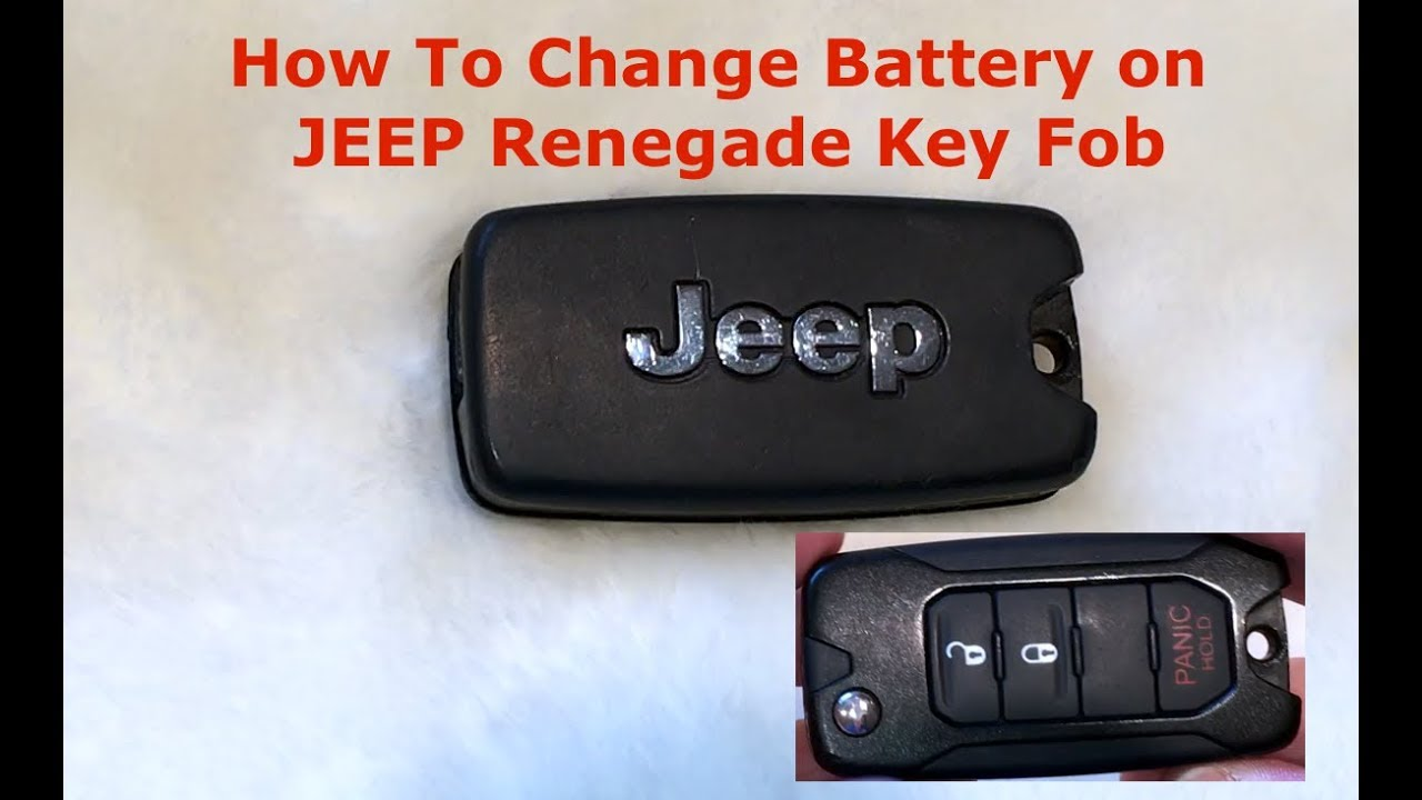 How To Change Battery On Jeep Key Fob Quick And Easy Youtube