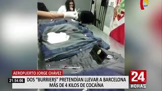 Detienen a dos 'burriers' que pretendían sacar cocaína bajo la modalidad 'maleta'