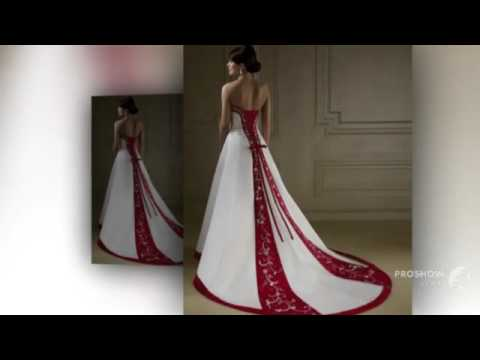 Bride Bridal Cheap Red and White Wedding Dresses China robe de mariage mariee Wedding Gown