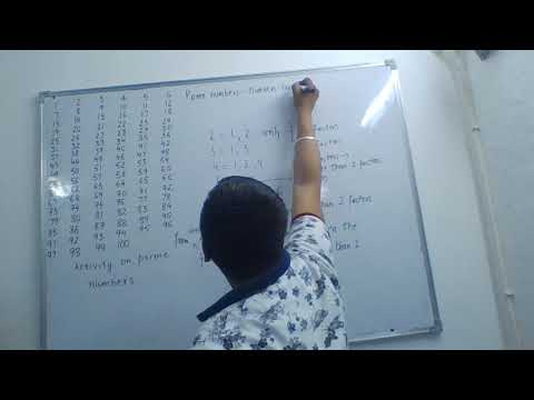 easiest way to learn prime numbers  from 1 to 100 through activity