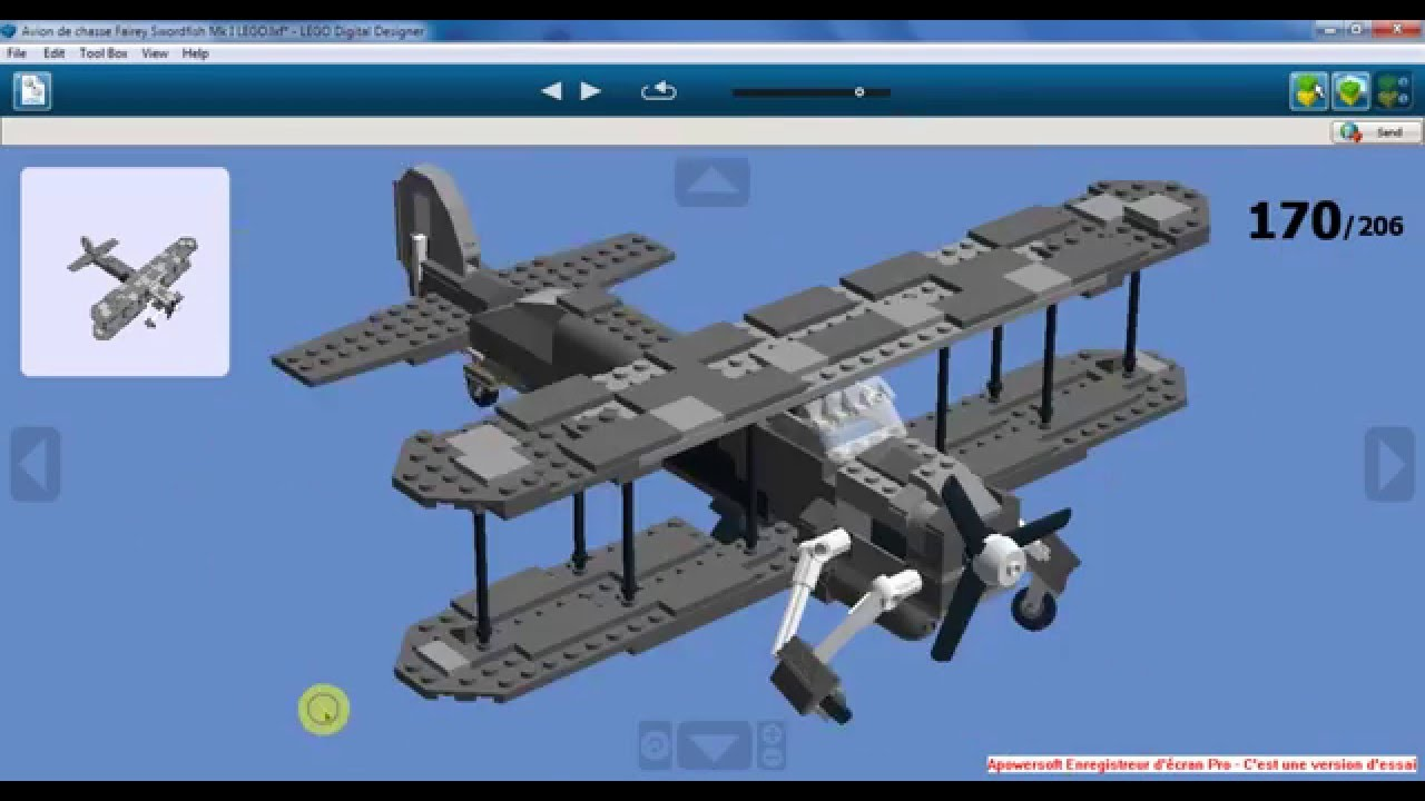 Avion de chasse fairey swordfish mk i lego youtube - Avion de chasse en lego ...