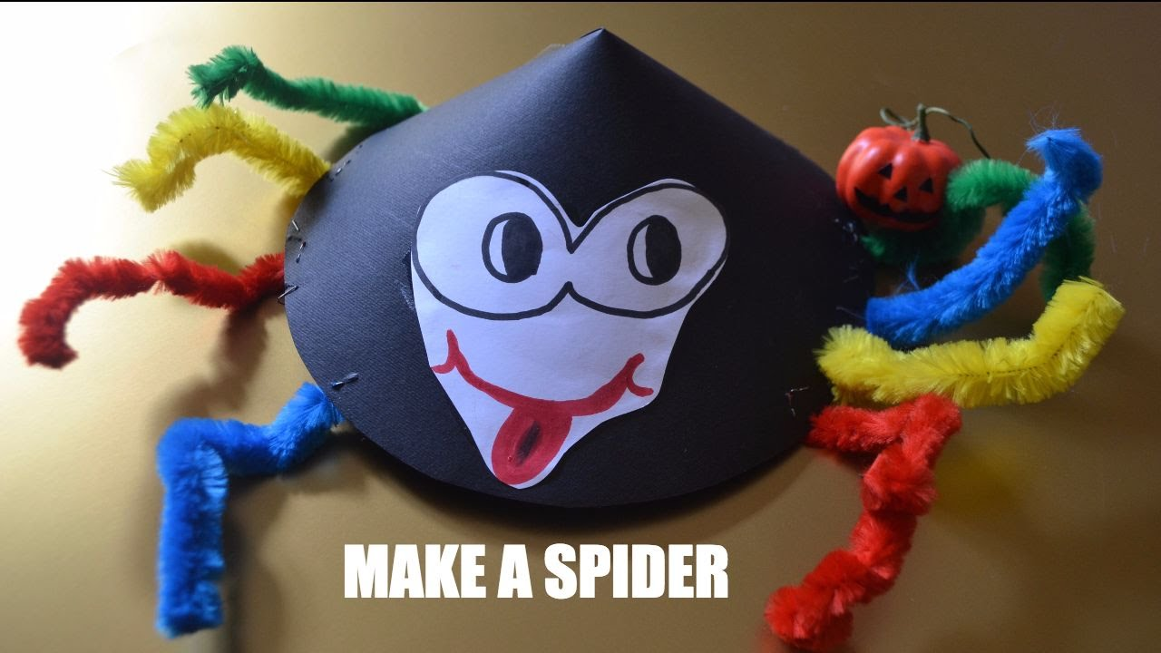 Come fare ragno di carta lavoretto halloween per bambini for Youtube lavoretti per bambini
