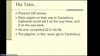 Repeat youtube video Chaucer & The Canterbury Tales