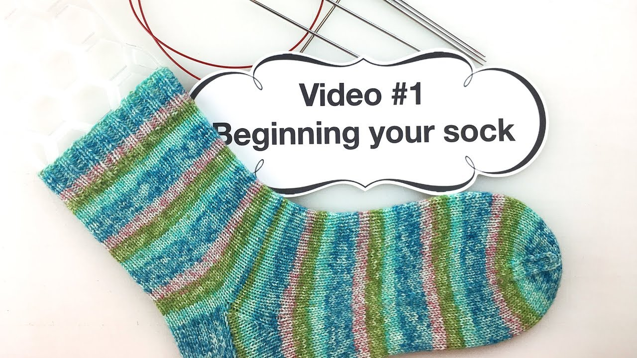 Learn To Knit Socks 1 Beginning Your Sock Youtube
