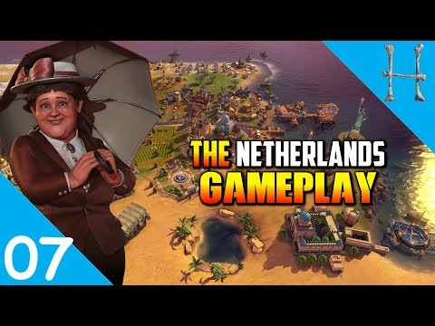 Civilization 6 Rise & Fall - Netherlands Gameplay #7 - The Cree & America