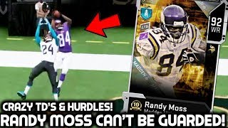 randy moss is unstoppable catching over everybody madden 20 ultimate team